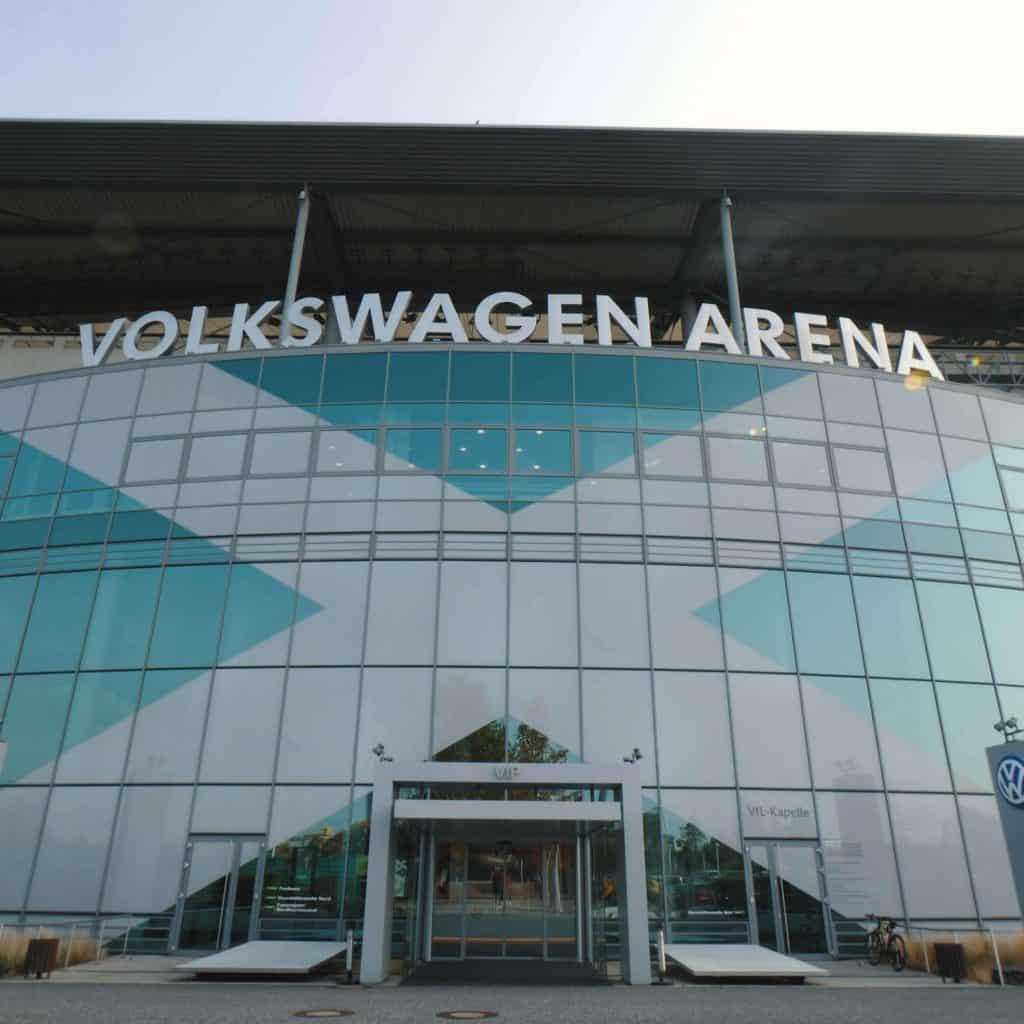 Außenansicht der Volkswagen Arena, Monster Cable Products, Inc., Teaser, Eventfilm, WINGMEN Media
