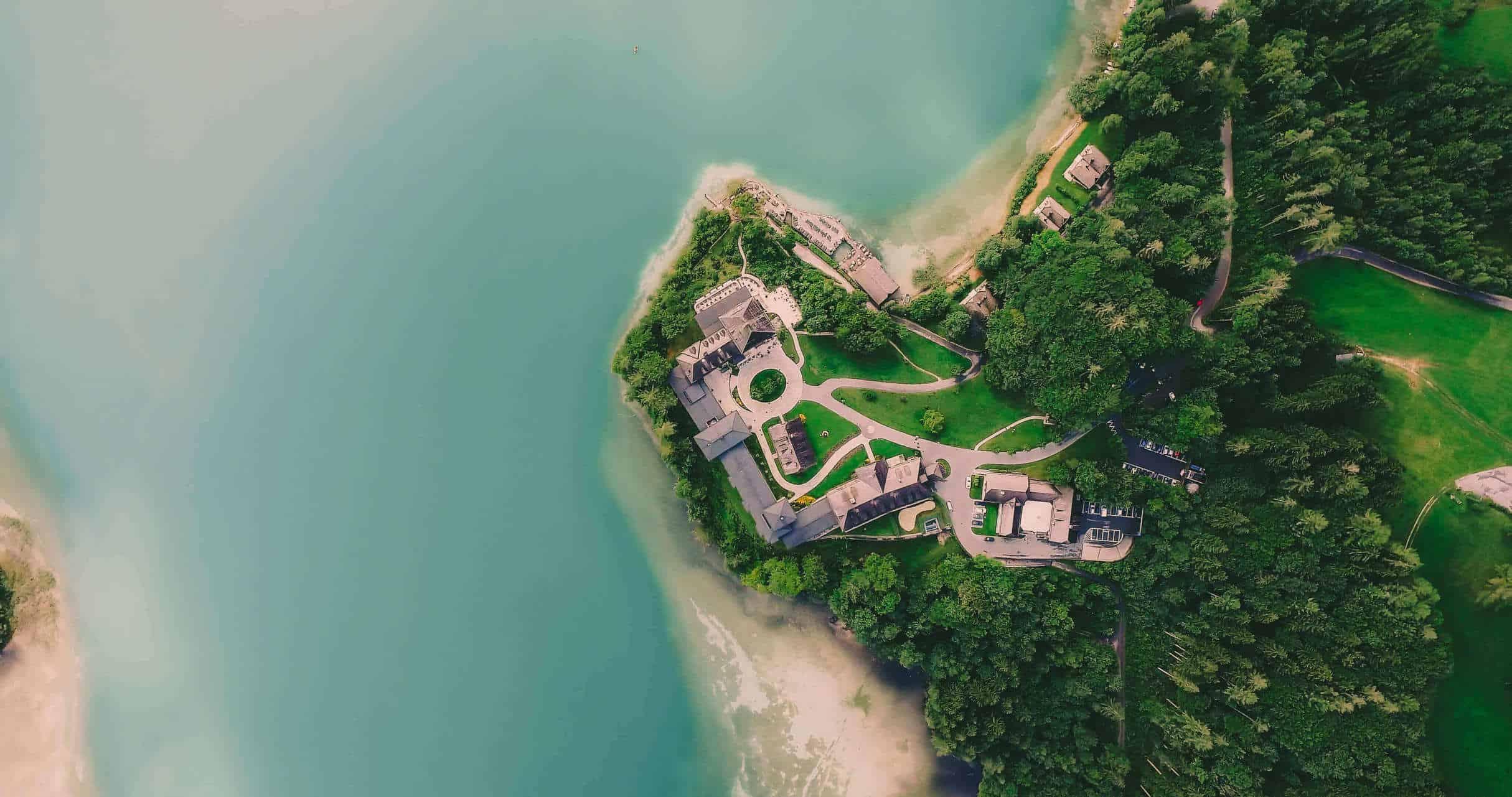 Hotel Fuschl am See Luftaufnahme