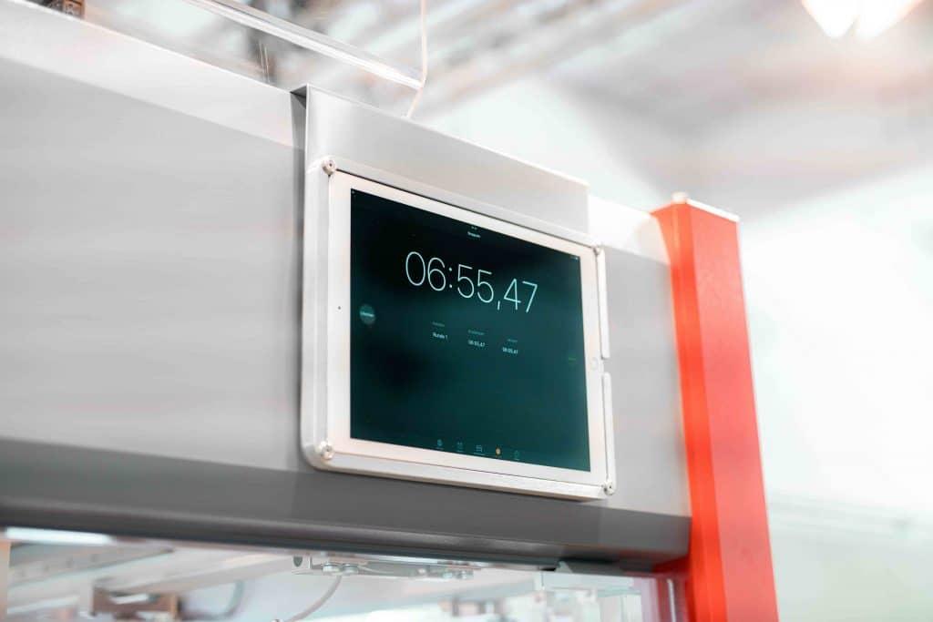 Display einer Somic Verpackungsmaschine, Maschine, Detail, Tag der offenen Tür, Hausmesse, SOMIC Verpackungsmaschinen GmbH & Co. KG, Unternehmensfotografie, WINGMEN Media